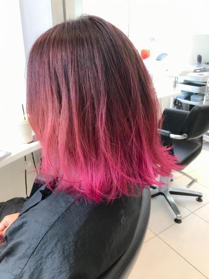 カラー 暗めピンク→明るめピンク→ビビットピンク