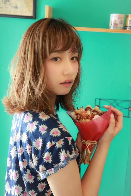 ゆるふわミディアムヘア☆  ランダムに柔らかく巻いて仕上げたスタイル^_^ Ripple所属・赤木健一のスタイル