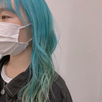 🌼ダブルカラー+前髪カット+シルクトリートメント🌻
