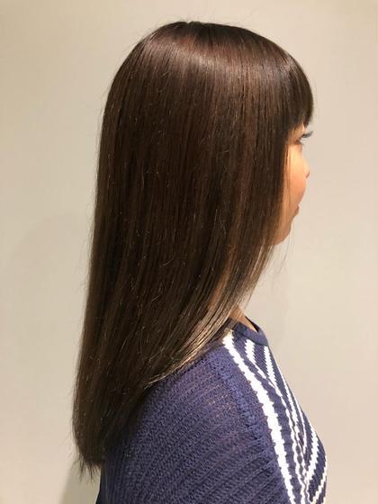 カラー セミロング アディクシーカラーのサファィア✨発色がとても綺麗✨