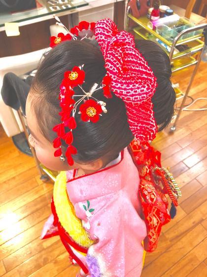 ロング 日本髪にいたしました☺️❤️