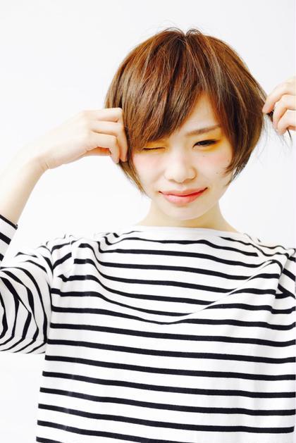 春スタイル★ キュートなショートボブ bangs所属・渡辺たつやのスタイル