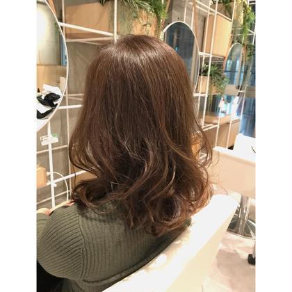 カット & 艶髪カラー&ミルボントリートメント(初回限定)