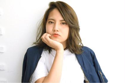 かきあげ大人女子スタイル♡ 色はオリーブベースで外国人風に♪ hair design BEER所属・中川葉璃香のスタイル
