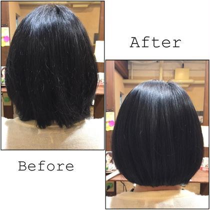 ◆毛髪治療オーガニックトリートメント◆ Before→Afterです。ストレートアイロンやツヤスプレーなどは一切使用せず、 乾かすだけで蘇ります☆ onebyone所属・onebyone三宮本店のスタイル