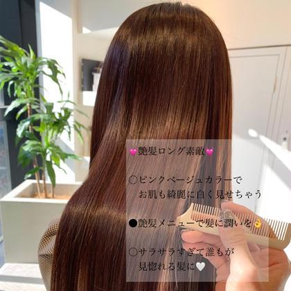 💖髪質改善サイエンスアクアカラー+髪質改善超音波TOKIOtreatment✨今までにない最高の艶髪💖