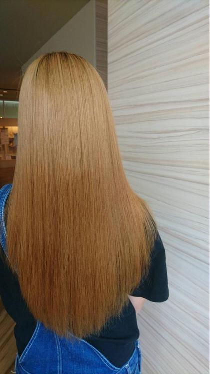 ブリーチを何回かされてる髪の毛で 乾燥など気になる髪の毛でしたが  oggiottoのトリートメントと しっかり改善させて頂きました! SWEET ROOM所属・大橋聖哉のスタイル