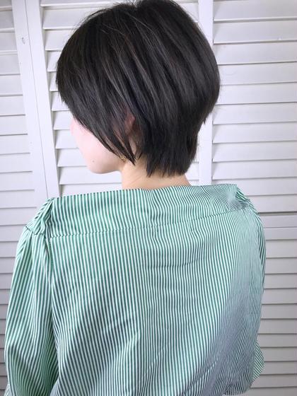 その他 カラー ショート パーマ ヘアアレンジ Real salon work💈 【 short / dark ash 】 . クセで広がりやすい時のショートは 襟足ともみあげを長めに残して シャープさと丸みをつけて fitさせると簡単スタイリングでキマります✂️ . ショートヘアは簡単stylingがいいね🌿 . . #NAKAIstyle #ショートヘア#ダークアッシュ