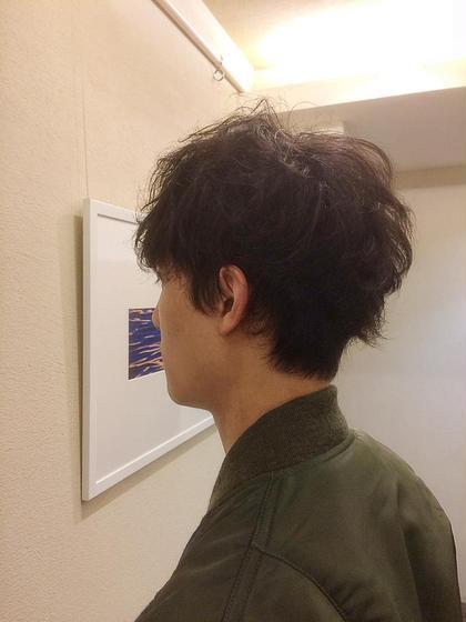 ショート メンズ ナチュラルパーマ★くせ毛をいかしてスタイリング^_^