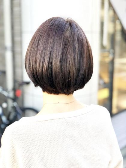 綺麗なシルエットのショートボブ✨ SUN所属・徳竹淳一のスタイル