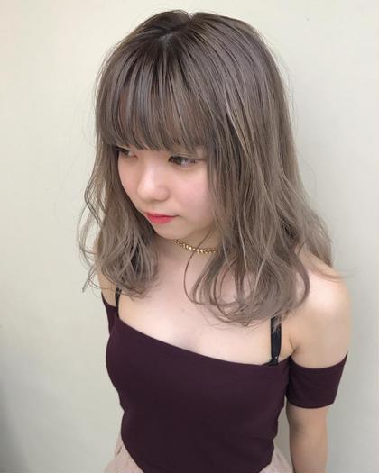 【ミニモ春きゅん】外国人風カラー+3Dハイライトカラー