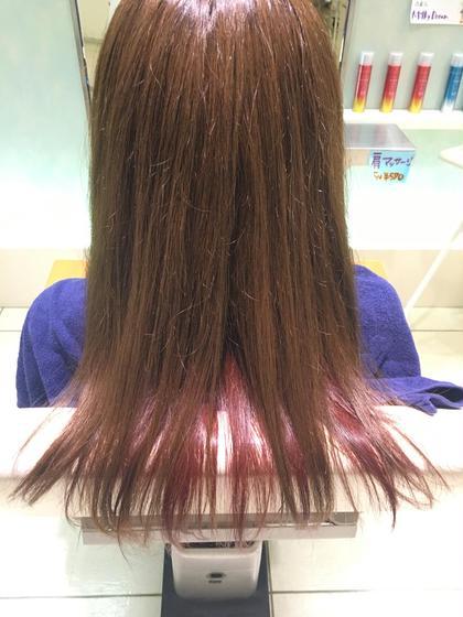 ピンクにインナーカラー ヘアメイクネクスト所属・川本あゆのスタイル