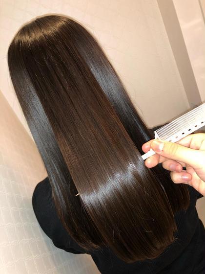 サラ髪ストレート