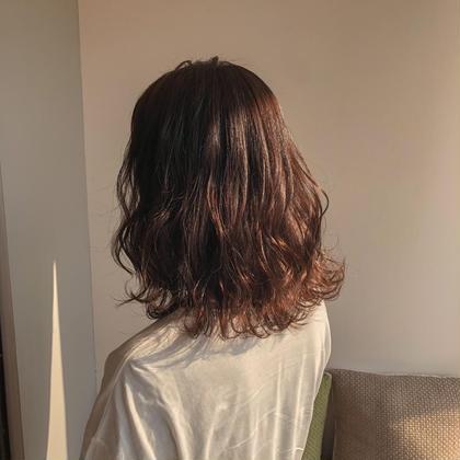 前髪カット+コテ巻き🕊