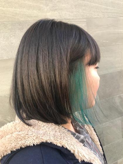 ブルー系のインナーはブリーチ2回必須です💫 SARA   徳山店所属・矢部江里奈のスタイル