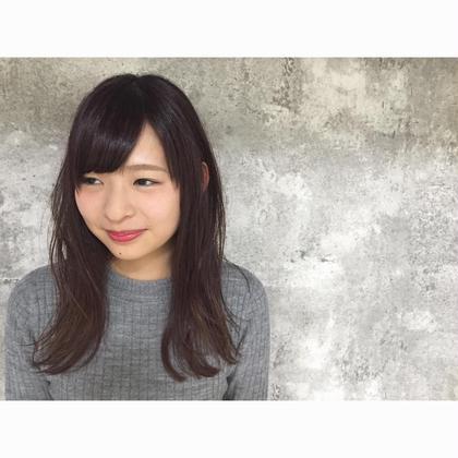 カラー セミロング ミディアム ロング Real salon work [ナチュラルピンク×ナチュラルレイヤー]  日本人が持つ特有の赤みに逆らわず活かす方向に持っていく透明感キープの7トーンピンクカラー&重めベースのレイヤーカットに下ろし流しの前髪が◎  #NAKAIstyle #ナチュラルピンクカラー #透明感カラー #ナチュラルレイヤー #前髪 #下ろし流し #ナチュラルを詰め込みました #無理のないヘアスタイル #かわいく見えるカットカラー #お客様カットカラー