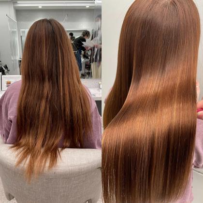 【ダメージで悩む方に!】髪質改善酸性ストレート+カット‼️11000円‼️