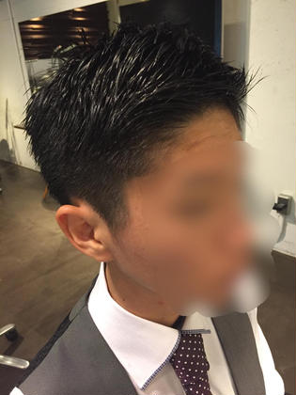 men's cut✂︎  刈り上げ過ぎないスッキリ営業マンstyle。 écru所属・古宇田純花のスタイル
