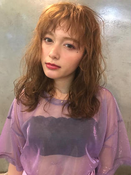 ⭐️⭐️⭐️ hair set ⭐️⭐️⭐️ salon de milk 原宿店所属・大川美桜のスタイル
