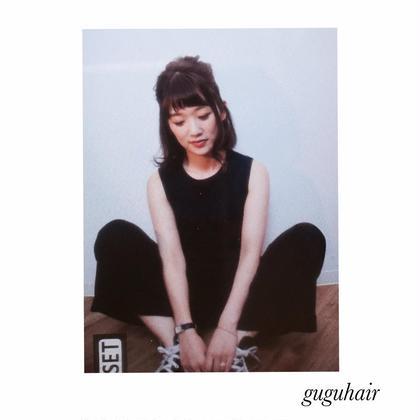 ボブ外ハネスタイル✴︎カラーはモノトーンアッシュ gu gu hair所属・gu gu hairMATSUのスタイル