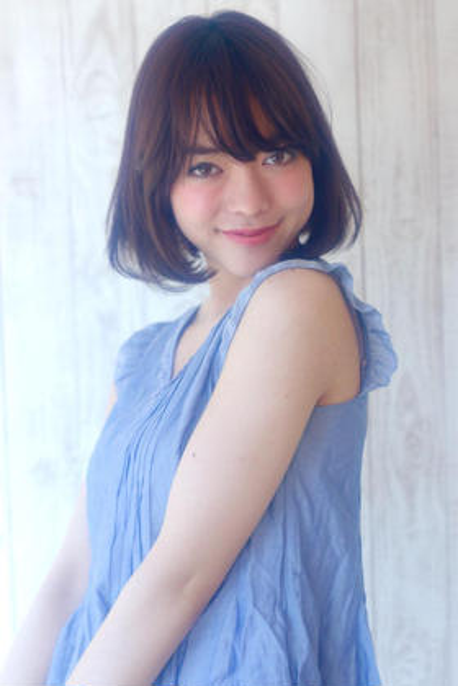 カラー ショート ミディアム 王道のワンカールボブ☆ スタイリングも簡単なのでオススメです!