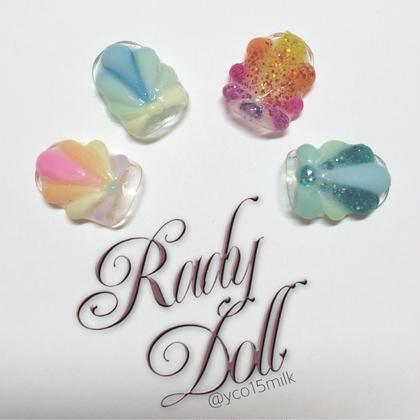 夏にぴったり☆+゜貝殻ネイル♡!立体のシェルがぷっくり可愛い✨ RadyDoll所属・NailSalonRadyDollのフォト