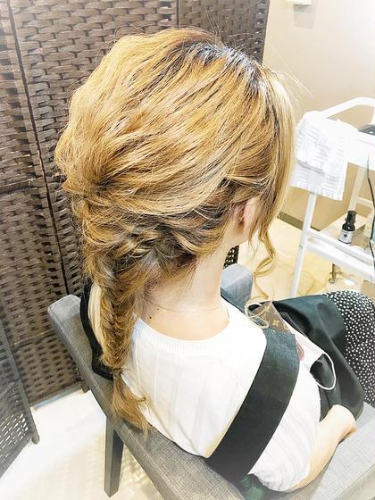 minimo限定♡   結婚式のゲストに最適\( ˆoˆ )/編み下ろし〜アップスタイル ヘアセット