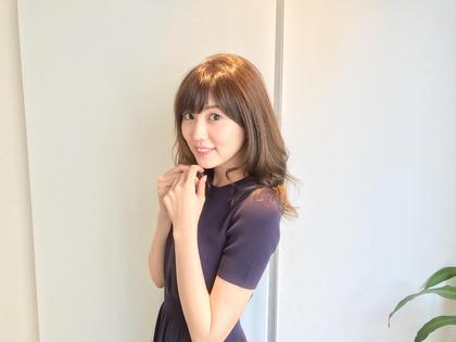 セミロング モデル、タレント岩崎名美様