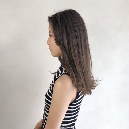 🌟髪質改善🌟サラサラ縮毛矯正+リタッチカラー(根元染め)+カット💗