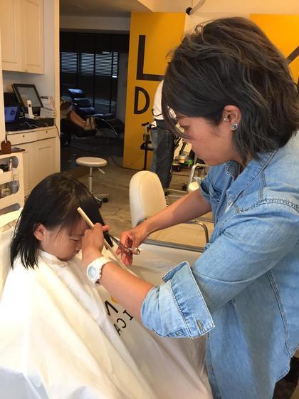 菅原みさ子のキッズヘアスタイル・髪型