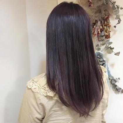 purple gray*  ブリーチで明るくなった髪におすすめ!