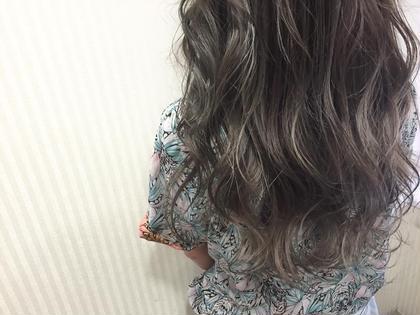 カラー セミロング ロング high light × lavender gray color