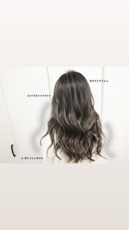 【インスタ映えくっきりハイライト】W3Dカラー+カット+トリートメント