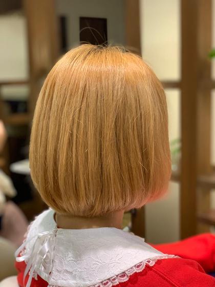 金髪ミニボブ✨重ためAラインボブ