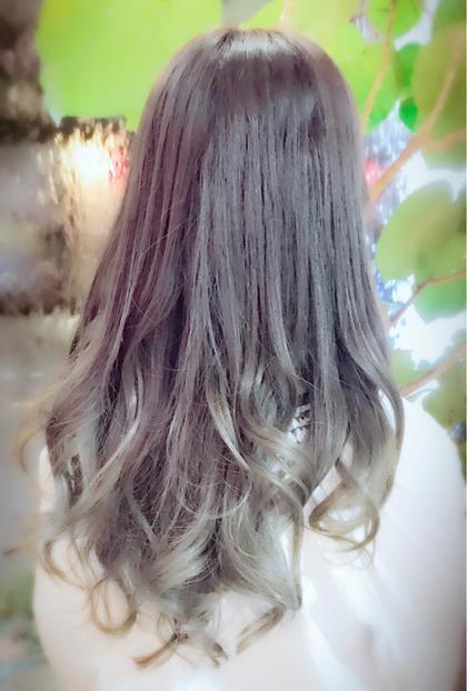 【透明感抜群カラー】アディクシーカラー+巻き髪スタイリング
