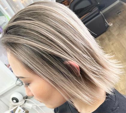 ✨圧倒的クオリティ✨3Dハイライトorバレイヤージュ カラー + 毛髪強度UPトリートメント【1ブリーチ+カラー】