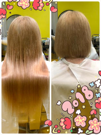 超音波80本のクーポン  地毛が短めですが量が少なめでしたので80本で綺麗に馴染み取り付けらサラサラロングストレートヘアーにイメチェン☆彡  DuoHair心斎橋店のロングのヘアスタイル