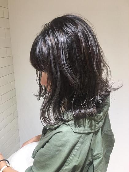 #黒染め卒業式。ケアブリーチハイライト×カラー