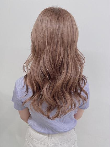 🌈大人気メニュー🌈 毛先でもバッサリでも◎カット+ケアブリーチ+高発色カラー✨+今話題髪質改善トリートメント✨