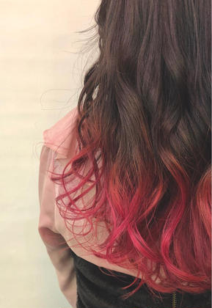 その他 カラー ミディアム 冬でもおしゃれに派手髪❤️