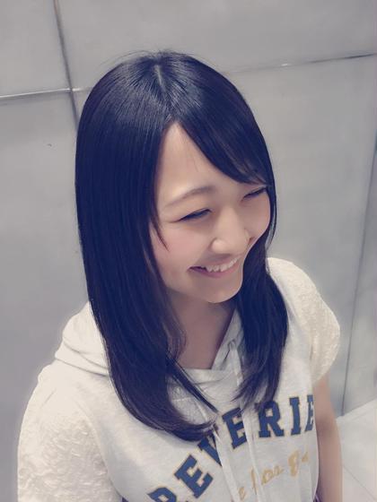 ストレート☆  ダメージしずに手触りがよくなります!!  affection所属・川上文菜のスタイル