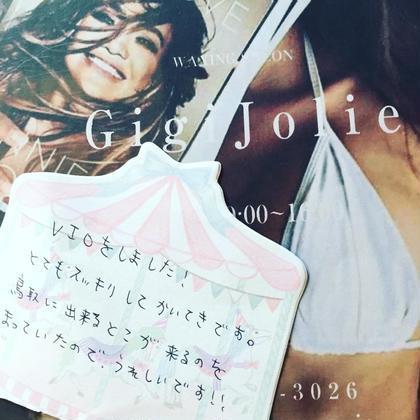 VIO3箇所set脱毛❤︎お客様レビュー❤︎ Gigi Jolie所属・牧田瑠実のフォト