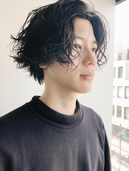 メンズミディアムミックスパーマ 菅原誠のメンズヘアスタイル・髪型