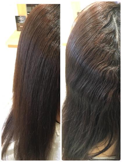 もうすぐ梅雨です!強いクセでお悩みの方、髪のダメージ気になりませんか?髪質改善縮毛矯正なら、少ないダメージでここまで癖が伸びるんです! Hair Design juliet(ヘアデザイン ジュリエ)所属・山尾奈津美のスタイル