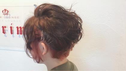 カラー ヘアアレンジ 軟毛・若干くせ毛の方です。 インナーブリーチ1回 の上からマニキュアカラーしました🌼