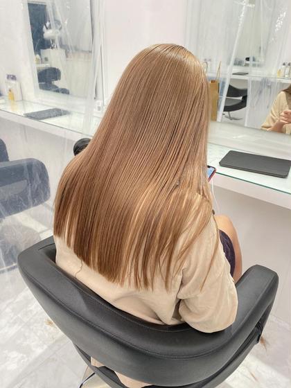 🌽ケアブリーチカラー(ダメージ94%カット)+髪質改善トリートメント+炭酸sp🌽ブリーチ毛でも艶髪に☀️
