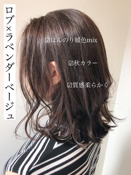 【外国人風】カット+艶カラー+潤いパーマ+炭酸泉spa¥20800⇒¥9660