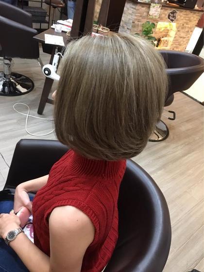 ✨外国人風カラーメッシュ✨+髪質改善トリートメントPPT補修