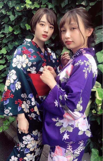 ⭐️花火大会・納涼船に⭐️ヘアアレンジ+浴衣着付け👘 税込5000円🌈