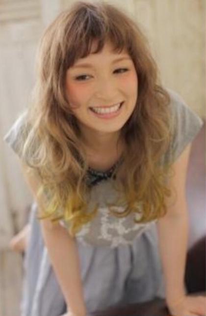 グラデーションカラーと前髪パーマです L:ders by  u-REALM所属・佐藤宏樹のスタイル